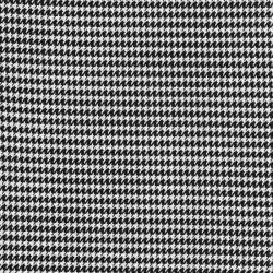 Tissu pied de poule noir/blanc