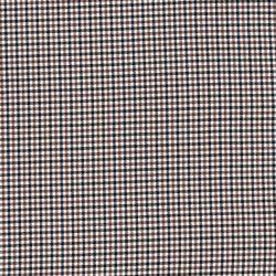Tissu mini carreaux marron/noir