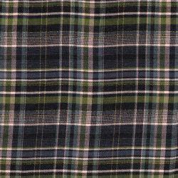 Tissu viscose carreaux lurex or vert/gris