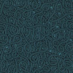 Tissu viscose twill abstrait bleu canard