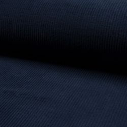 Tissu velours côtelé large bleu marine