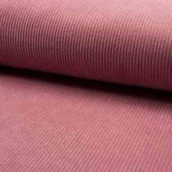 Tissu velours côtelé large rose