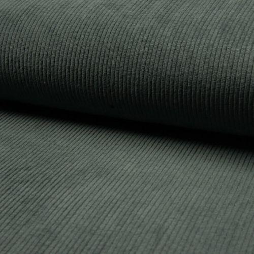 Tissu velours côtelé large eucalyptus