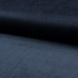 Tissu velours côtelé bleu marine