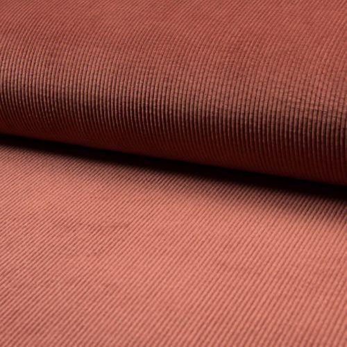 Tissu velours côtelé terracotta