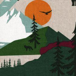 Tissu effet lin belle montagne