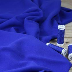 Tissu crêpe de viscose bleu royal - Eglantine et Zoé