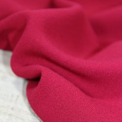 Tissu viscose crêpe rouge grenade - Eglantine et Zoé