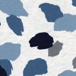 Tissu sweat gratté peinture fond écru