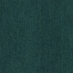 Tissu coton chambray vert