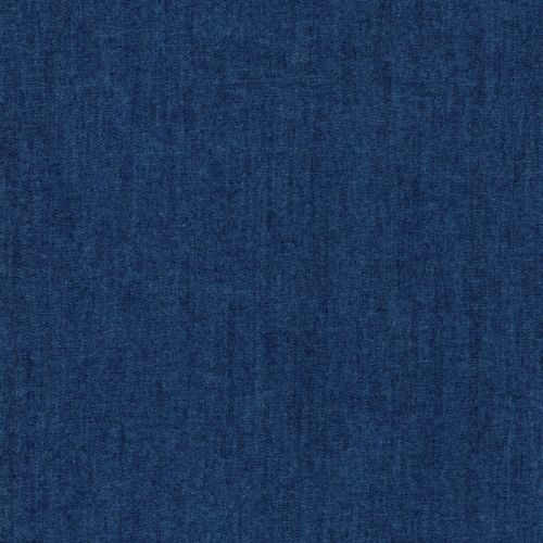 Tissu coton chambray imitation jean bleu roi