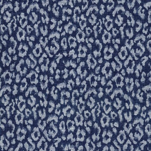 Tissu jacquard léopard jean