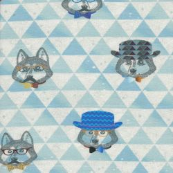 Tissu Jersey hippster foxes 96%cot/4%el