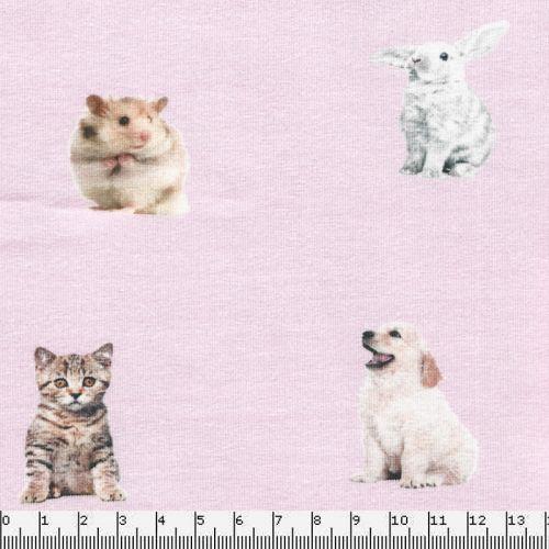 Tissu Jersey little pets 96%cot/4%el