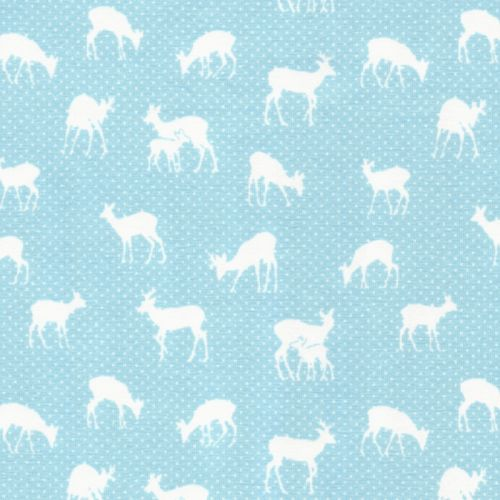 Tissu Jersey 95 % cot/5% El cerfs fond bleu