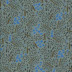 Tissu 95%visc/5%el jungle fond vert mousse